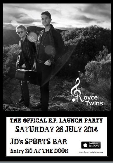 The Royce Twins - Official EP Launch - Poster