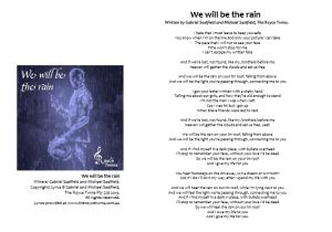 Image - We will be the rain lyrics