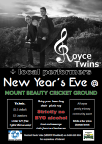 Heading to Mount Beauty this NYE